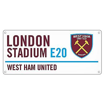 West Ham United FC officielle Metal Street tegn
