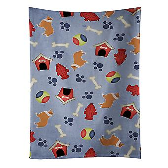 Carolines Treasures  BB3916KTWL Collie Dog House Collection Kitchen Towel