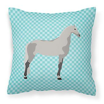 Trotón de Orlov caballo azul cheque tejido decorativo de la almohadilla