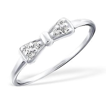 Bow - 925 Sterling Silver Cubic Zirconia Rings - W18952X