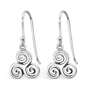 Triskelion - 925 Sterling Silver Plain Earrings - W31410x
