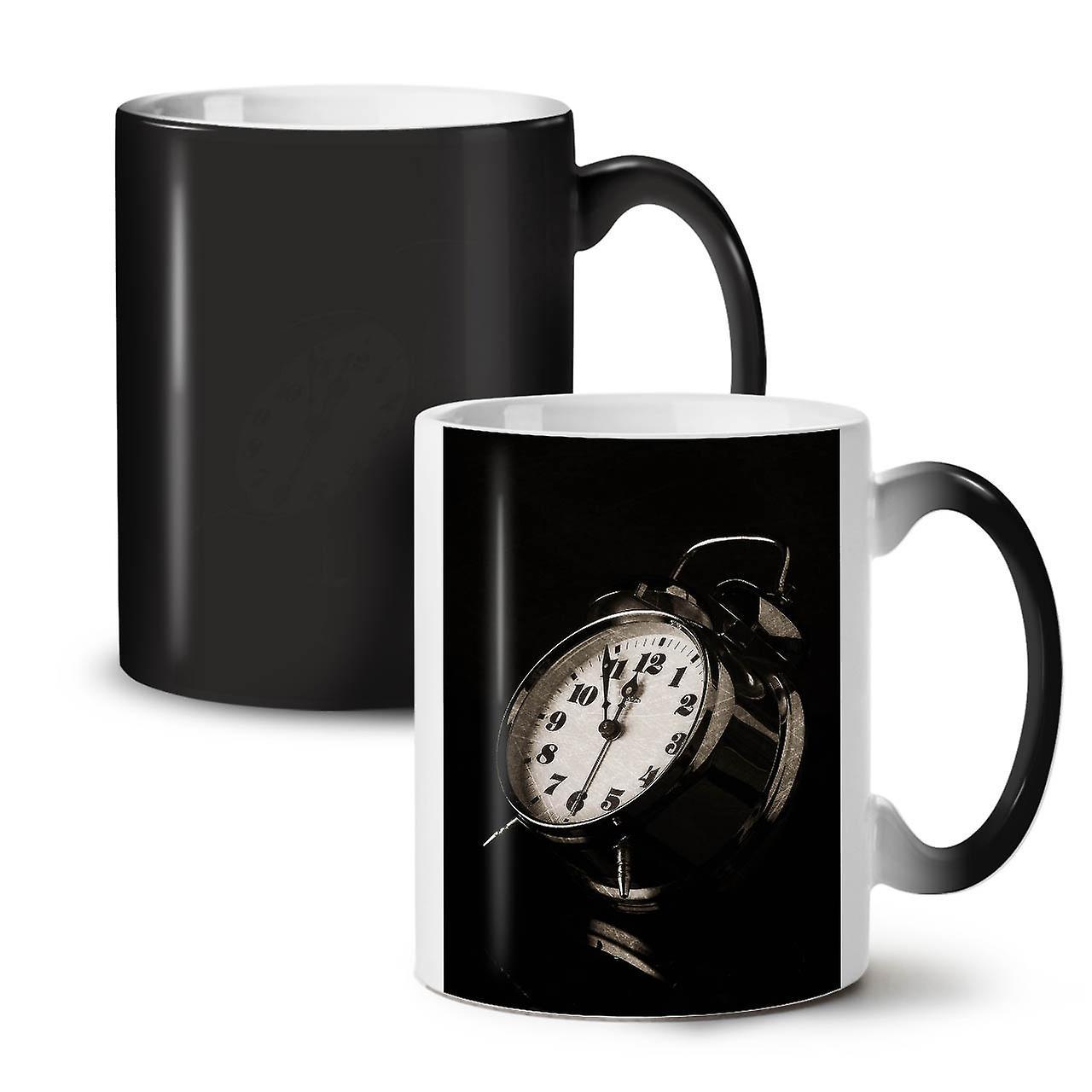 OzWellcoda Céramique Nouveau Couleur Thé Funky Ancienne Changeant Tasse 11 Noir De Café Horloge xrBthdCsQ