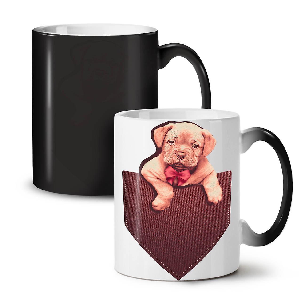 11 Noir Café OzWellcoda Thé Chien Animal Tasse Céramique Chiot Couleur Changeant Funny Nouvelle 43q5RjLA