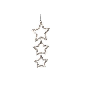 (CGB) Giftware Triple Crystal Kerstster opknoping decoratie