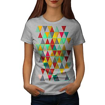 Geometriska eleganta kvinnor GreyT-skjorta | Wellcoda