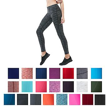 TSLA Tesla FYP42 Frauen High-Waisted Ultra-Stretch Tummy Control Yoga Pants