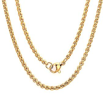 Ladies 18K Gold Plated Stainless Steel Chain Necklace