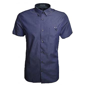 Ted Baker Ted Baker Men's Blue Eligant Short Sleeved Shirt