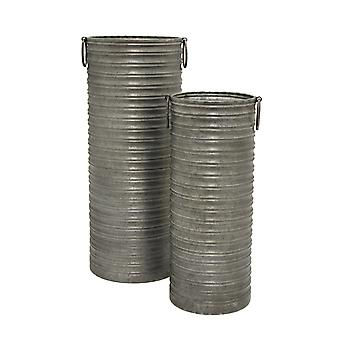 Three Hands 50125 Galvanized Jug S/2