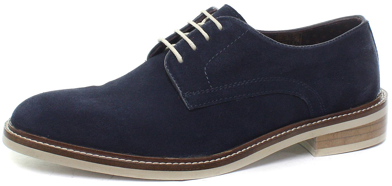 Londra Brogues Stanley Suede Mens Lace Up Coloreeei e scarpe Derby | Qualità