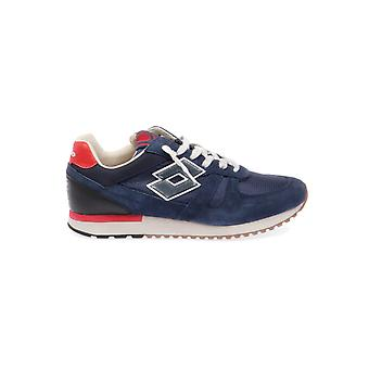 Lotto men's T4584NAVY Blau leather of sneakers