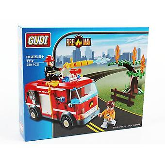 Import Box 229 Pieces Fire Truck