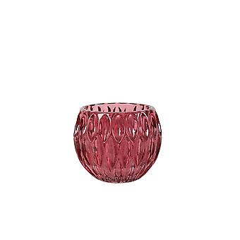 Light & Living Tealight Ø11x9 Cm ROGNES Glass Red
