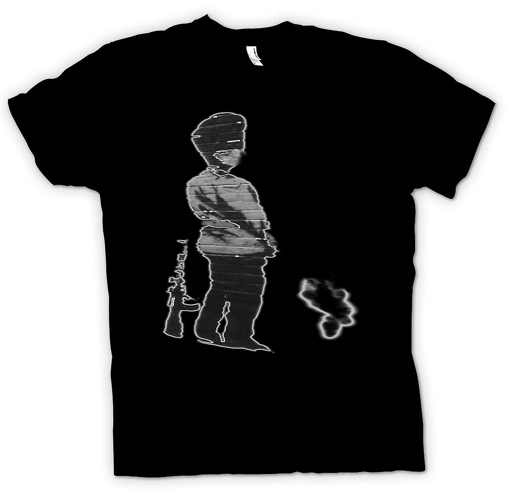Kids T-shirt - Banksy Graffiti Art - Soldier
