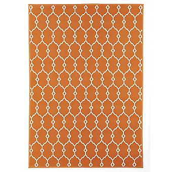 Outdoor carpet for Terrace / balcony vitaminic trellis Orange 160 / 230 cm carpet indoor / outdoor - for indoors and outdoors