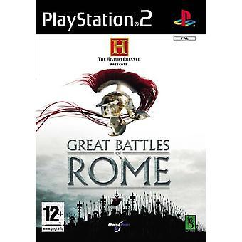 De grote veldslagen van de History Channel van Rome (PS2)
