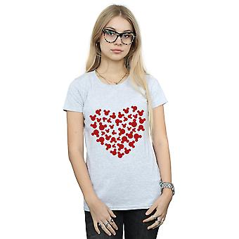Disney Women's Mickey Mouse Heart Silhouette T-Shirt