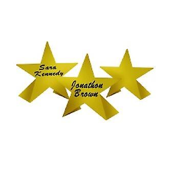 Tarjetas del lugar de la estrella de oro de la hoja
