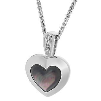 Orphelia Silver 925 Chain With Pendant Heart Mop & Zirconium  ZH-7289