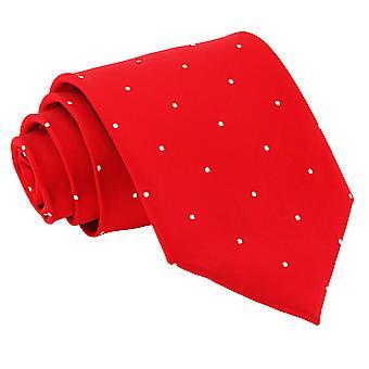Czerwona Pinezka Dot klasyczny krawat