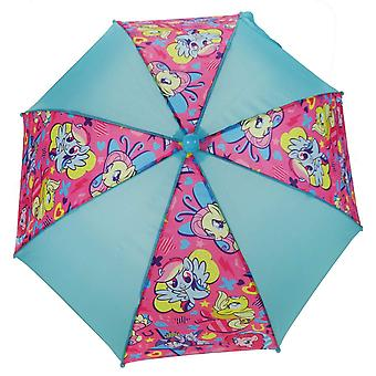 Girls My Little Pony Children's Rain Umbrella Aqua & Pink
