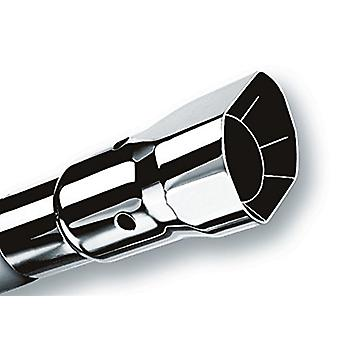 Borla 20132 Polished Stainless Steel Single Square Angle-Cut Intercooled Tailpipe Tip
