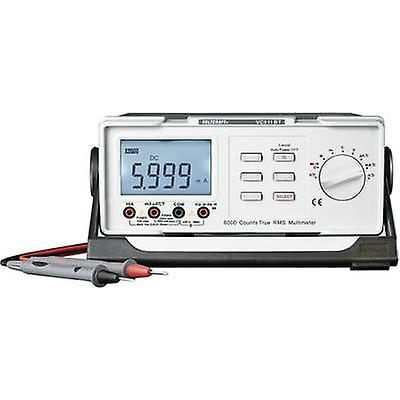 VOLTCRAFT VC611BT Bench multimeter Calibrated to ISO standards Digital CAT II 600 V Display (counts): 6000