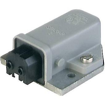 Mains connector STAKAP Series (mains connectors) STAKAP Socket, horizontal mount Total number of pins: 2 + PE 16 A Grey Hirschmann STAKAP 2 1 pc(s)