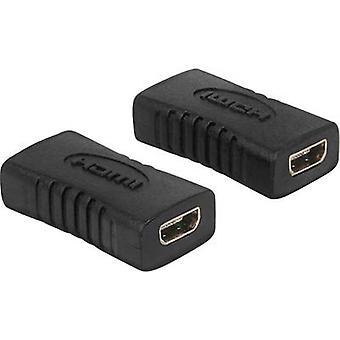 Delock HDMI Adapter [1x HDMI socket D Micro - 1x HDMI socket D Micro] Black gold plated connectors