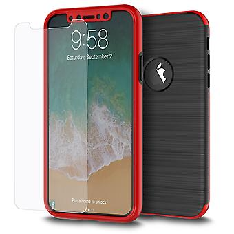 Samsung Galaxy S7 Edge 2 in 1 Handyhülle 360 Grad Full Cover Case Rot