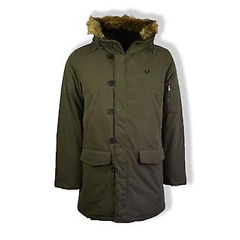 Fred Perry Down Snorkel Parka jas (donkere Thorn)