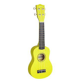 Groov-e GV-MI10-YW Beginners Traditional Soprano Ukulele Guitar- Yellow