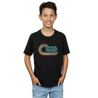 Star Wars garotos onda retrô logotipo t-shirt