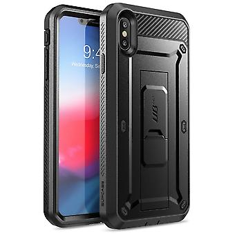 iPhone XS Case, [Unicorn Beetle Pro Series] Full-Body Rugged Holster Case with Built-In Screen Protector 2018 (Black)