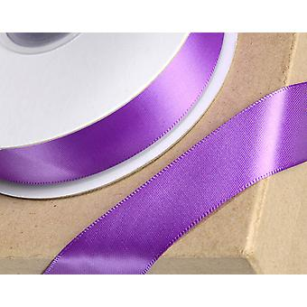 23mm Purple Satin Ribbon for Crafts - 25m | Ribbons & Bows for Crafts