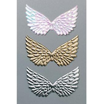 Pearlescent White Quilted Angel Wings - 2 Pairs | Peg Doll Crafts