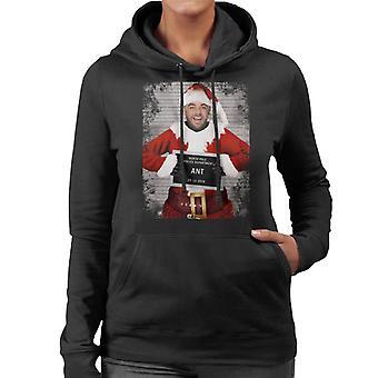 Christmas Mugshot Ant Women's Hooded Sweatshirt