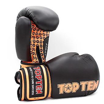 Top Ten Fight Boxing Gloves Black/Orange
