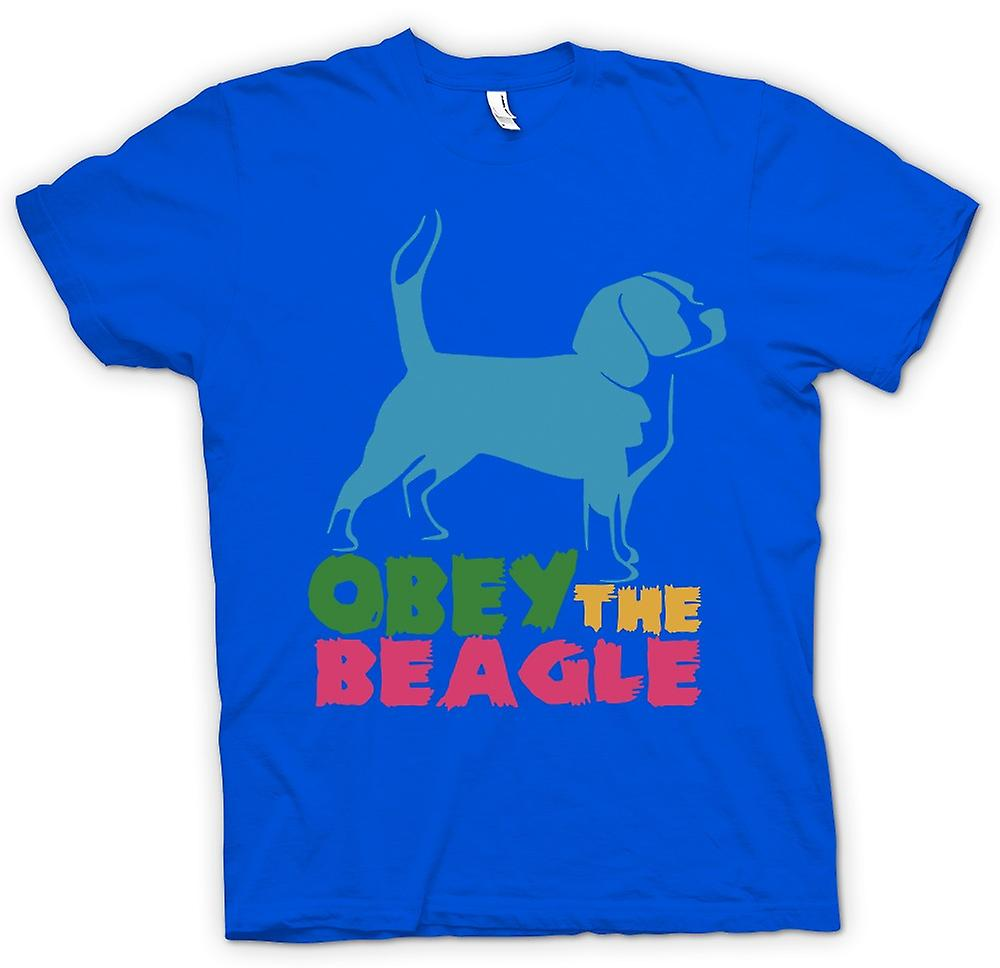 Mens T-shirt - Obey The Beagle