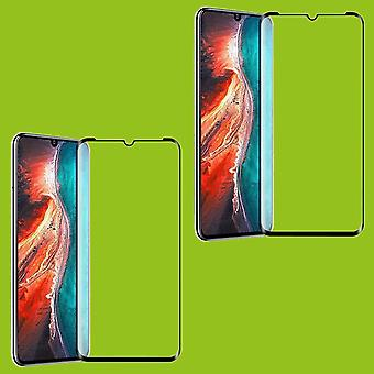 For Huawei P30 Lite 2 x 4 d full curved tempered hard glass foil 0,3 mm H9 black cover