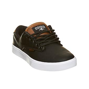 Osiris Blackl-White-Brown Slappy Vulc Shoe