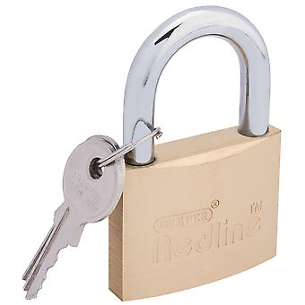 Draper 68023 50mm Redline Brass Padlock with Keys