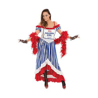 Orion Costumes Supermarket Value Tin Saloon Girl Funny Fancy Dress