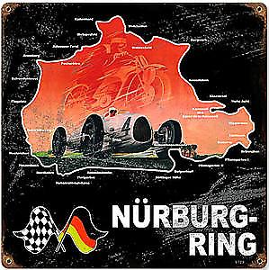 Nurburgring rusted metal sign   (pst 1212)