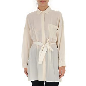 Semi-couture White Silk Shirt