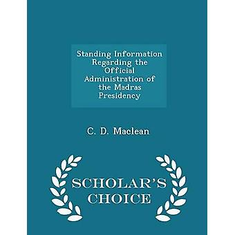 الدائمة معلومات تتعلق بالإدارة الرسمية من رئاسة مدراس العلماء الطبعة اختيار طريق ماكلين & دال جيم