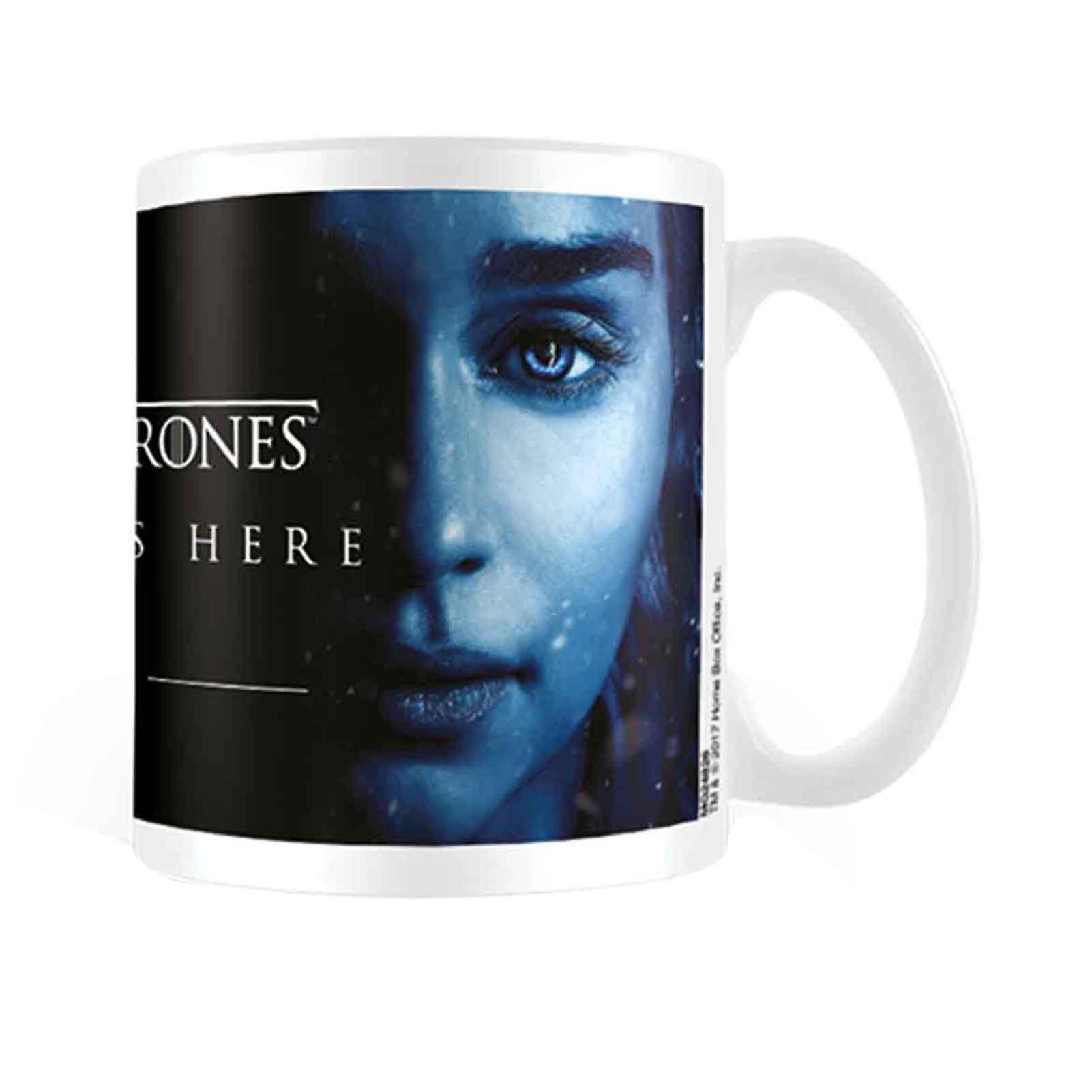 New Des Oz Est Ici Boxed Trônes 11fl Officiel White Jeu Mug Hiver Daenerys mON8n0wv