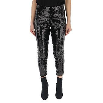 Laneus Black Glitter Pants