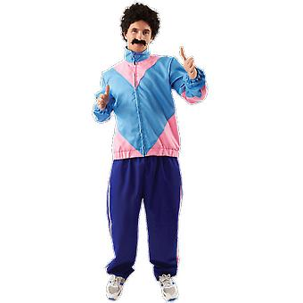 Mens 80s Shell Suit Scouser Retro Tracksuit Fancy Dress Costume