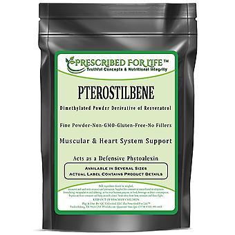 Pterostilbene - Dimethylated Powder Derivative of Resveratrol - Powerful Antioxidant Combination